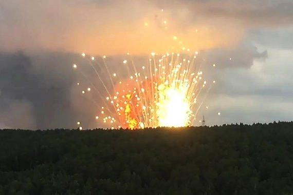 На территории воинской части под Ачинском взорвался склад с боеприпасами