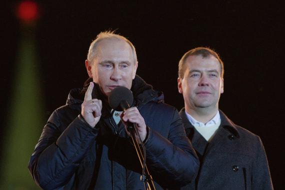 Взлеты и падения рейтинга Путина