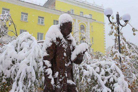 normal wnj Первый снег в Норильске. Фотографии