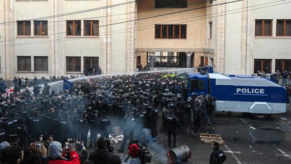 Полиция в Грузии разогнала акцию протеста у парламента