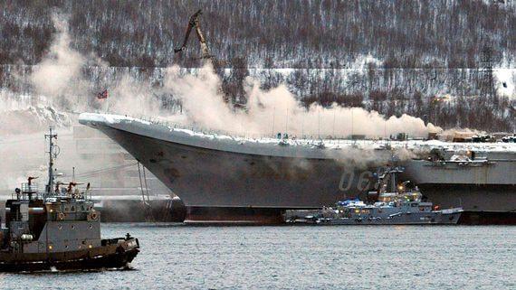 Пожар на «Адмирале Кузнецове» перенесёт окончание его ремонта минимум на год