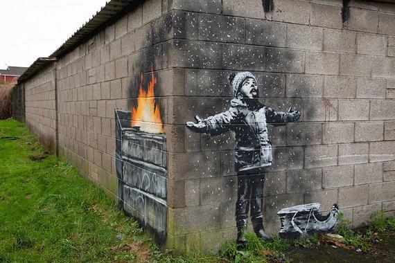 Последнее граффити Бэнкси продано за $130,000
