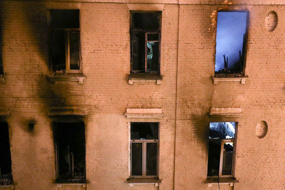 Пожар в «звездном доме» на Никитском