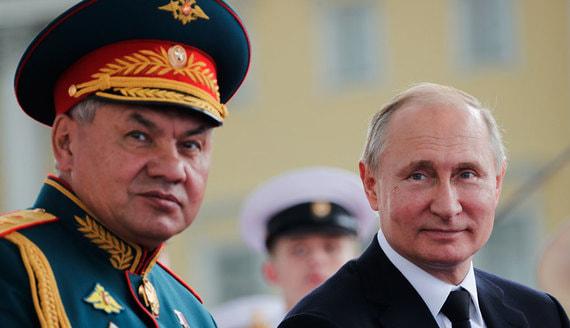 Путин поздравил Шойгу с днем рождения орденом «За заслуги перед Отечеством»