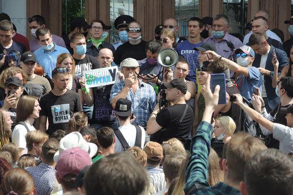 В Хабаровске снова прошли протестные акции в поддержку Фургала