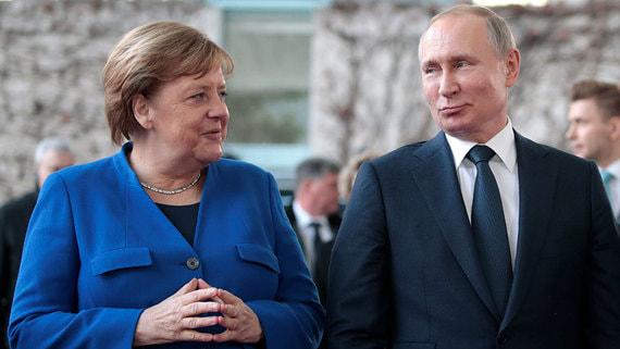 Путин и Меркель обсудили ситуацию на Украине и в Ливии
