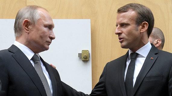 Путин и Макрон обсудили ситуацию на востоке Украины