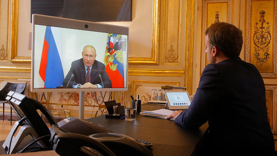 Путин и Макрон обсудили ситуацию в Белоруссии