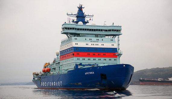 В состав флота России вошел мощнейший в мире ледокол «Арктика». Фотогалерея