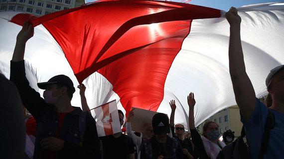 В центре Минска проходит несанкционированный многотысячный марш оппозиции