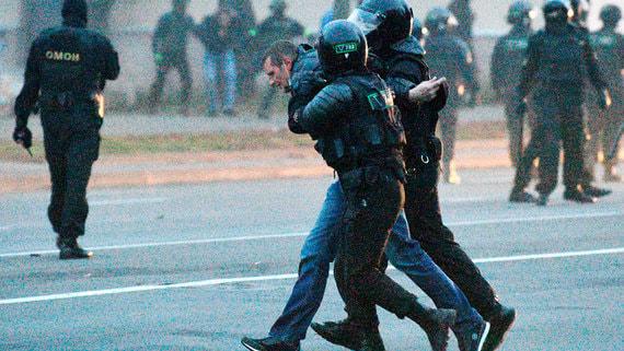 Правозащитники заявили о задержании более 170 демонстрантов в Белоруссии