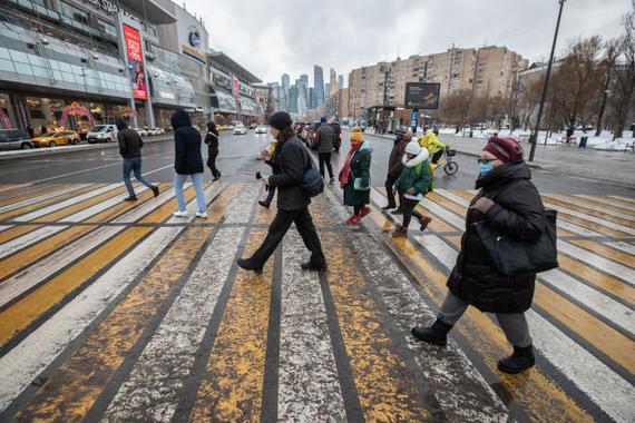 В Москве изменится разметка диагональных пешеходных переходов